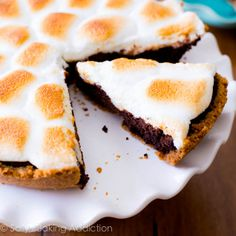 Homemade S'mores Brownie Pie
