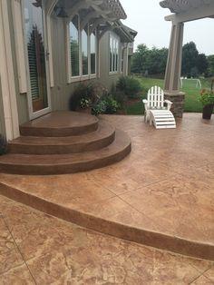 Concrete Patio Idea And Patio Steps Design.