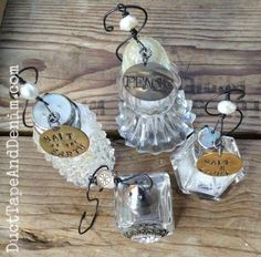 Vintage Salt Shaker Christmas Ornaments