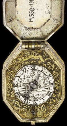Pocket Watch by David Ramsey, about 1615, London England. (Watch face).