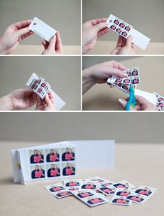 DIY | instagram save-the-dates - - Little stickers from Instragram pictures. Love this idea for anything really...Doesn't even have to be an Wedding invite