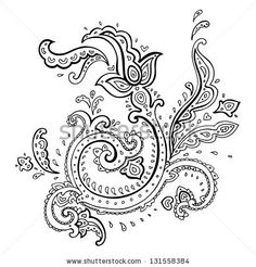 Paisley. Hand Drawn Ethnic ornament.  Vector illustration isolated. - stock vector