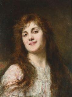 Alexei Alexeiewitsch Harlamoff (1842 - 1933) -Portrait of a girl