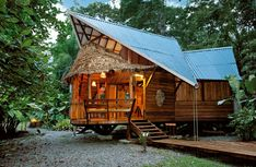 This is the 'Beach House' at the Tree House Lodge. The lodge with its 4 different houses is situated in Punta Uva, within the Gandoca-Manzanillo Wildlife Refuge, in the province of Limón, Costa Rica.