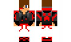 minecraft skin red boy