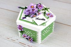 The lovely new Pentagon Box. For more information visit www.tatteredlace.co.uk Fancy Fold Cards, Folded Cards, Box Maker, Tattered Lace Cards, How To Make An Envelope, Envelope Box, Altered Boxes, Handmade Books, Craft Box