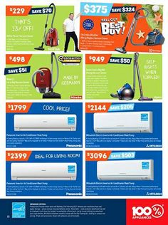 Catalogue of offers from 100 % Appliances