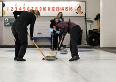 Basic curling strategies for the first time on the ice.