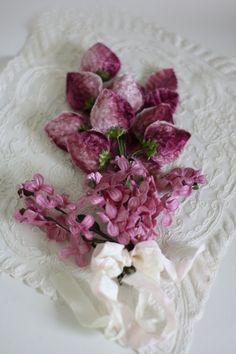 Vintage Millinery Flowers Velvet Berries