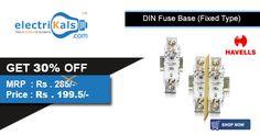 Get 30% Off On #Havells #DINFuseBases @ electrikals.com #Onlineshopping #electrikals commend #MakeinIndia #125AFuseBase #DINFuseBase #IHUC00O125FuseBase
