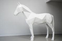 Poligonales Estatuas animales por Ben Foster
