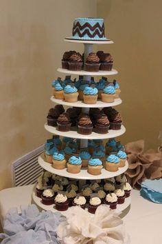 Baby shower ideas - cupcake tiers