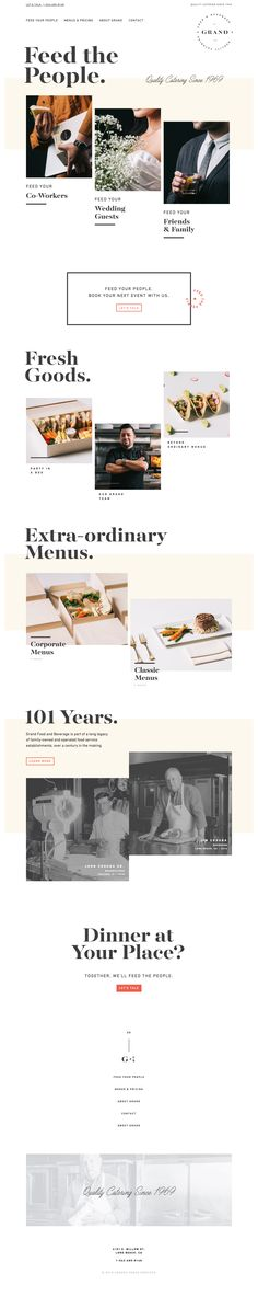 Grand catering website