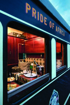 Glimpse of a luxury cabin on 'Pride of Africa' Rovos Rail railway carriage