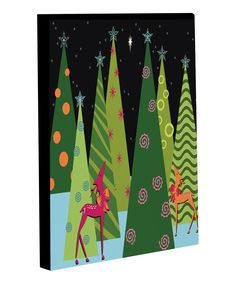 Take a look at this Christmas Tree Parade Canvas on zulily today!
