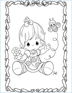 Bumble Bee - Precious Moments coloring pages.