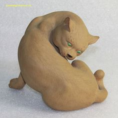 Beautiful Chinese Shekwan Shiwan Ceramic Mudman Pottery Figure of a Cat Animal in Antiques, Asian Antiques, China | eBay
