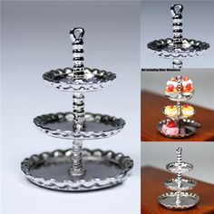 Find More Doll Houses Information about 3 Tier Bakery Food Metal Display Cake Stand Tray Dollhouse Miniatures  Miniature Toys Dolls Accessories for children kitchen,High Quality toy accessories,China toys baby fisher price Suppliers, Cheap accessories artists from LunaDore on Aliexpress.com