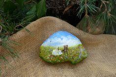 Landschaft,++Tisch+in+der+Wiese,++Stein+bemalt+von+Kunigundes+wunderbare+Kunst+auf+DaWanda.com