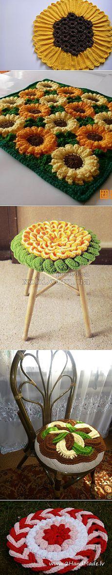 5 красивых и необычных ковриков — цветов для сидений — Рукоделие
