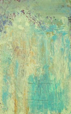 Abstract Painting, Original Acrylic Abstract Painting with Light Blue, Turquoise, and Gold