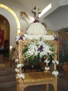 Great & Holy Friday Epitaphios Bearer Holy Friday, Greek Icons, Orthodox Easter, Greek Easter, Church Flowers, Orthodox Christianity, Early Christian, Holy Week, Easter Celebration