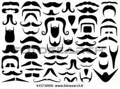 Banque d'Illustrations - ensemble, de, différent, moustaches. Fotosearch - Recherche de Clip Arts, de Dessins, d'Illustrations et d'Images Vectorisées au Format EPS