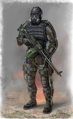 Exoskeleton from S.T.A.L.K.E.R. One of my favourite games of all time and I've read that the company is reassembling to make a second game. By hagtorp762 on DeviantArt
