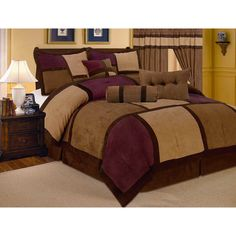 Modern Micro Suede Quilted Patchwork 7-piece Comforter Set