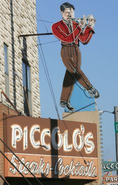 Piccolos Steaks Cocktails - Keeping Omaha's classic neon signs shining - Omaha.com: GO - Arts & Entertainment