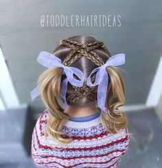 """541 curtidas, 25 comentários - Cami 🎀 Toddler Hair Ideas (@toddlerhairideas) no Instagram: """"Today I started with 6 ponies. I did 2 braids from both of the ponies in front and back then criss-…"""""""