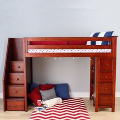 All-in-One Storage Twin Loft Bed with Staircase