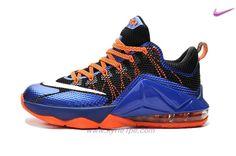 724557-620 Blu Arancione Nero Argento NIKE LeBron 12 Low scarpe italiane