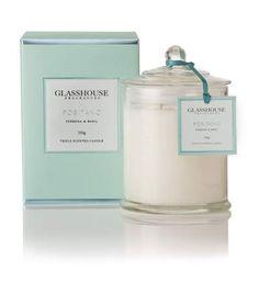 GlassHouse Positano Candle (Basil and Lime)