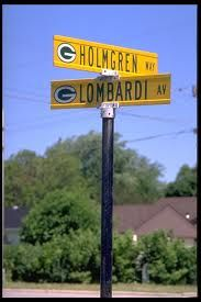 Intersection of Holmgren Way and Lombardi Avenue, Green Bay Wisconsin. Packers Baby, Go Packers, Green Bay Packers Fans, Packers Football, Football Season, Greenbay Packers, Good Citizen, Look Man