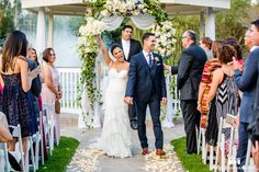 Bride and groom celebrate officially husband and wife #weddingphotography / see more at www.truephotography.com