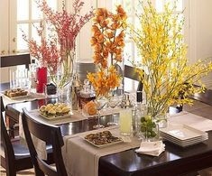Creative ways to dress your table- great inspiration!