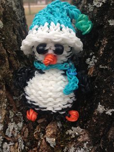 Rainbow Loom Penguin Doll designed by elegantfashion360 :)