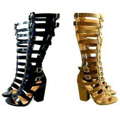 belas sandálias gladiadoras de salto