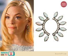 Lemon's curved spiked earrings on Hart of Dixie.  Outfit Details: http://wornontv.net/31838/ #HartofDixie