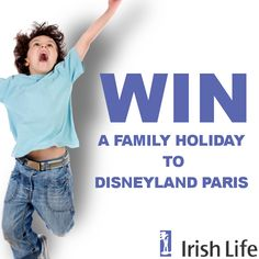 To celebrate the launch of the LifeCare range of services you can win a Family Holiday To Disneyland Paris worth €1,500 from Irish Life. Opportunity not to be missed.