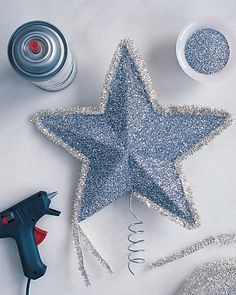 DIY tree star-We've had horrible luck finding a tree topper, so it looks like we'll just have to make one.