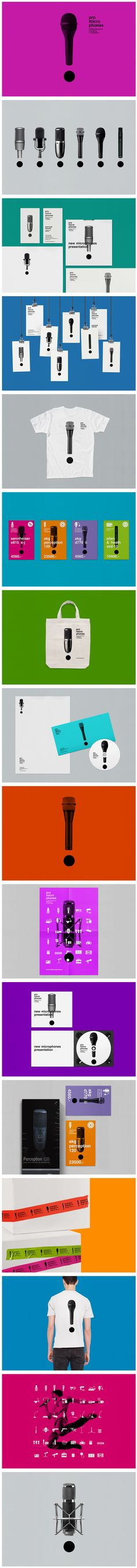 Professional microphones and accessoires online shop identity by Vova Lifanov