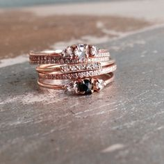I love to stack my rings. It gives you an excellent opportunity to showcase your collection. I get a kick when people comment on how many rings I wear on just a couple fingers!
