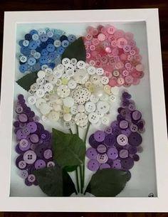 Fun Diy Crafts, Wreath Crafts, Summer Crafts, Creative Crafts, Bead Crafts, Arts And Crafts, Button Art Projects, Button Crafts, Craft Projects