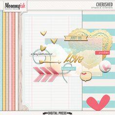 Quality DigiScrap Freebies: Cherished mini kit freebie from Mommyish