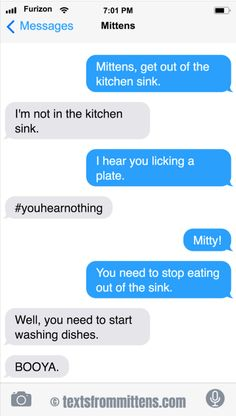 Texts from Mittens Funny Cartoon Memes, Funny Texts, Text From Mittens, Cat Text, Judge Judy, Stop Eating, Funny Things, Humor, Dog