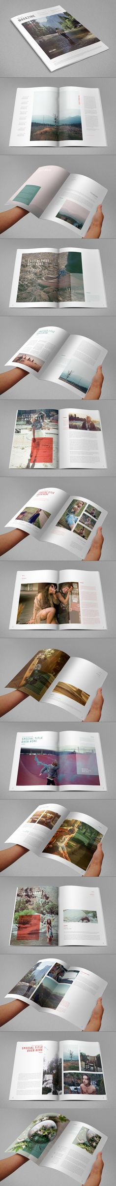 Magazine/Viewbook Layout - Love the emphasis on photos, minimalist text