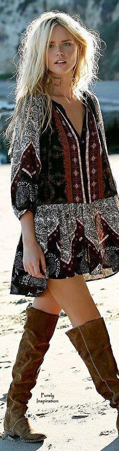 bohemian boho style hippy hippie chic bohème vibe gypsy fashion... - Bohemian, Boho Chic And Hippie Fashion
