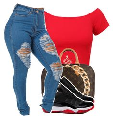 """""""Air Jordan Low Bred 11's Outfit"""" by desarae143 ❤ liked on Polyvore"""